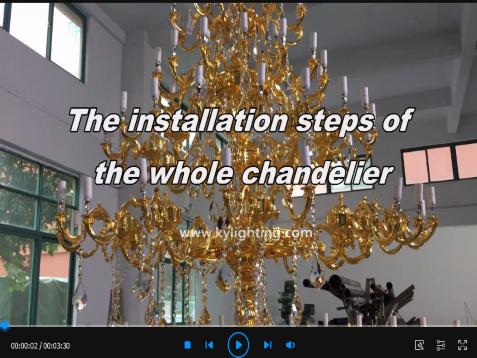 Installation video of custom chandelier